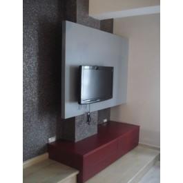 mobila la comanda living mdf vopsit mat masa dining si scaune vopsite lucios biblioteca si dulap cu sertare glisante silentioase