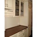 mobilier la comanda bucatarie antichizata manere bronz antic fronturi mdf frezat cornise si lezene